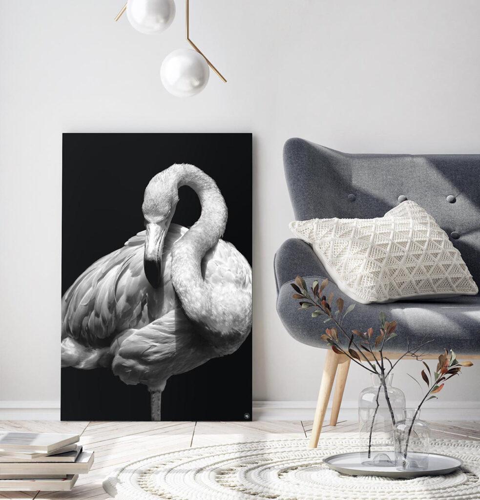 Wanddecoratie Schilderij Flamingo