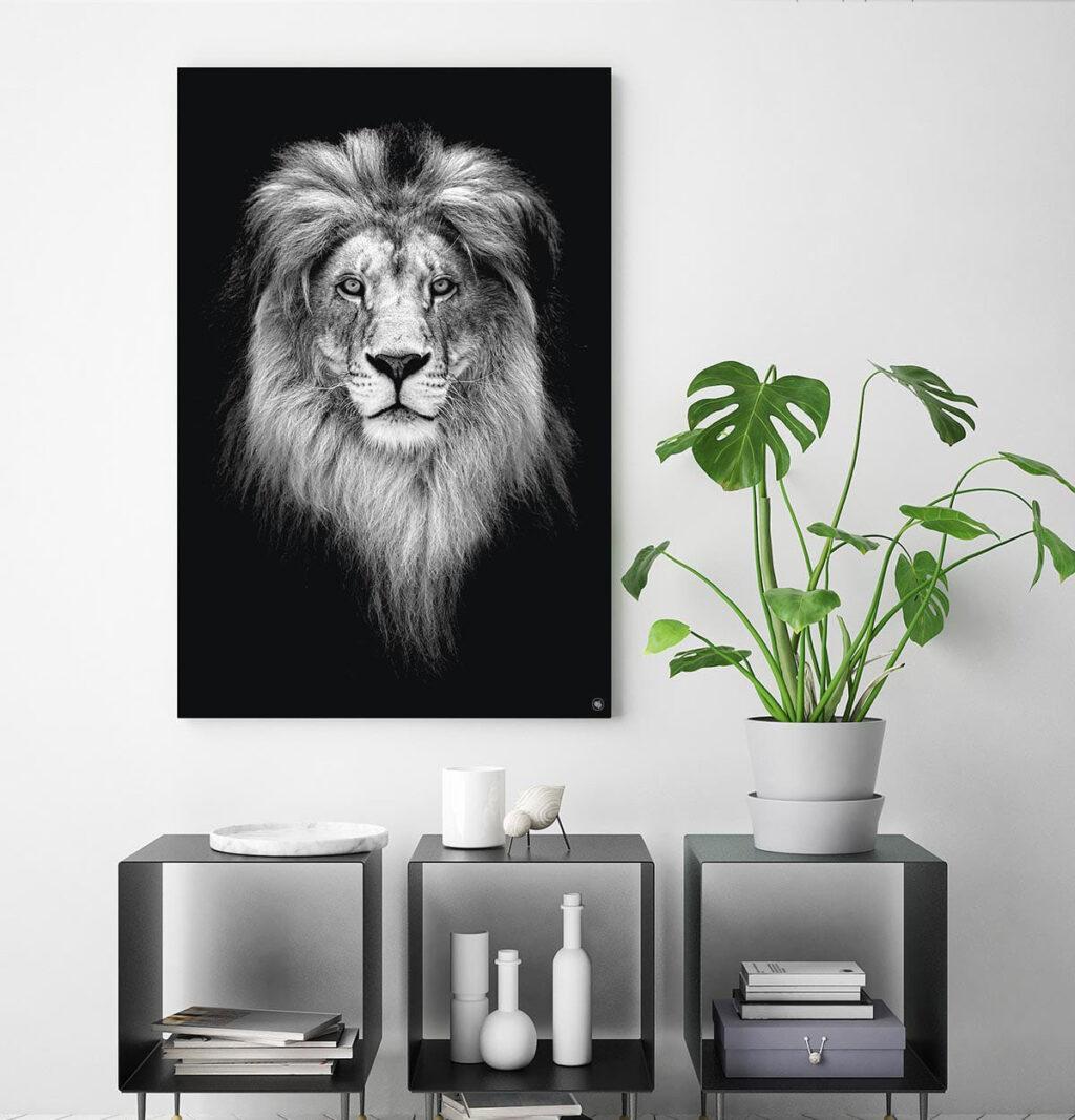 Wanddecoratie Schilderij Leeuw