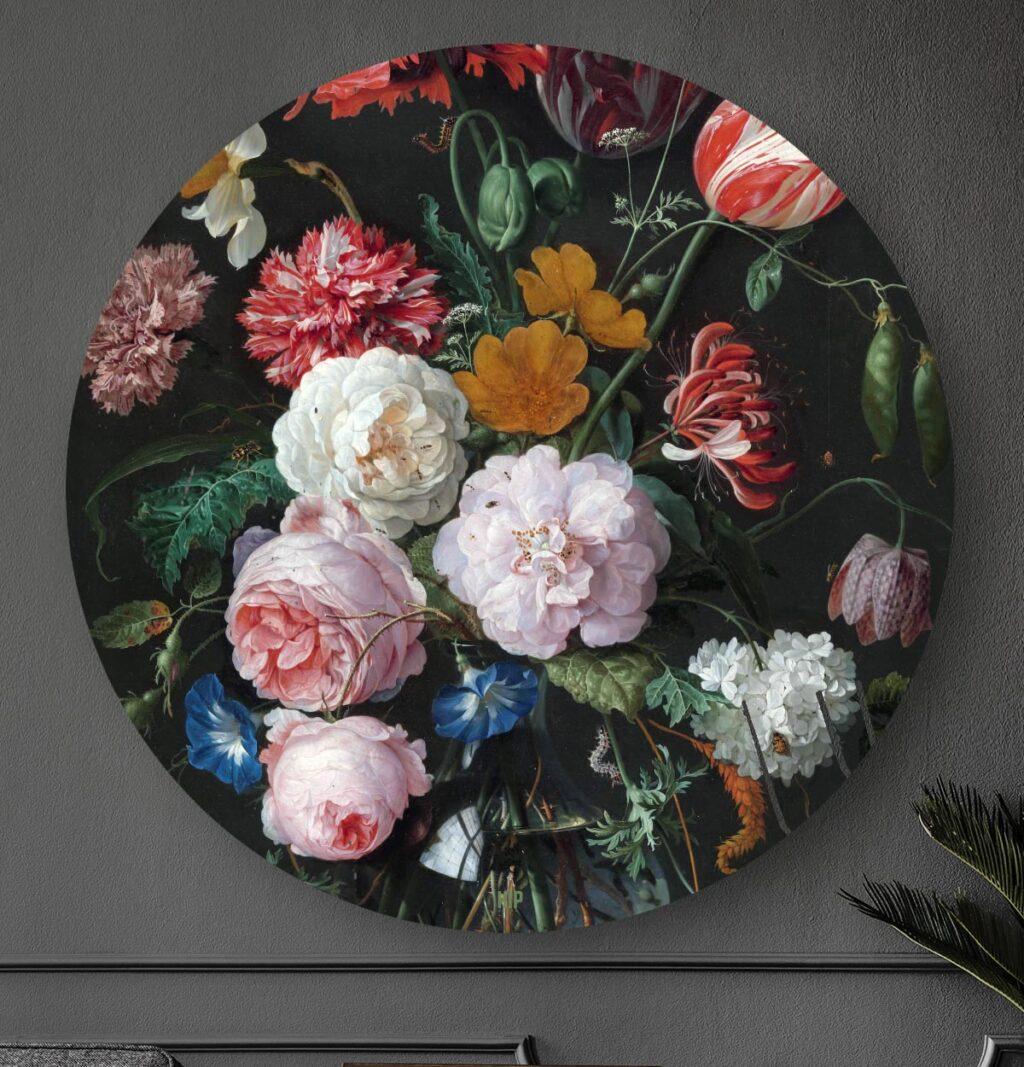 HIP ORGNL Stilleven met bloemen in een glazen vaas Front