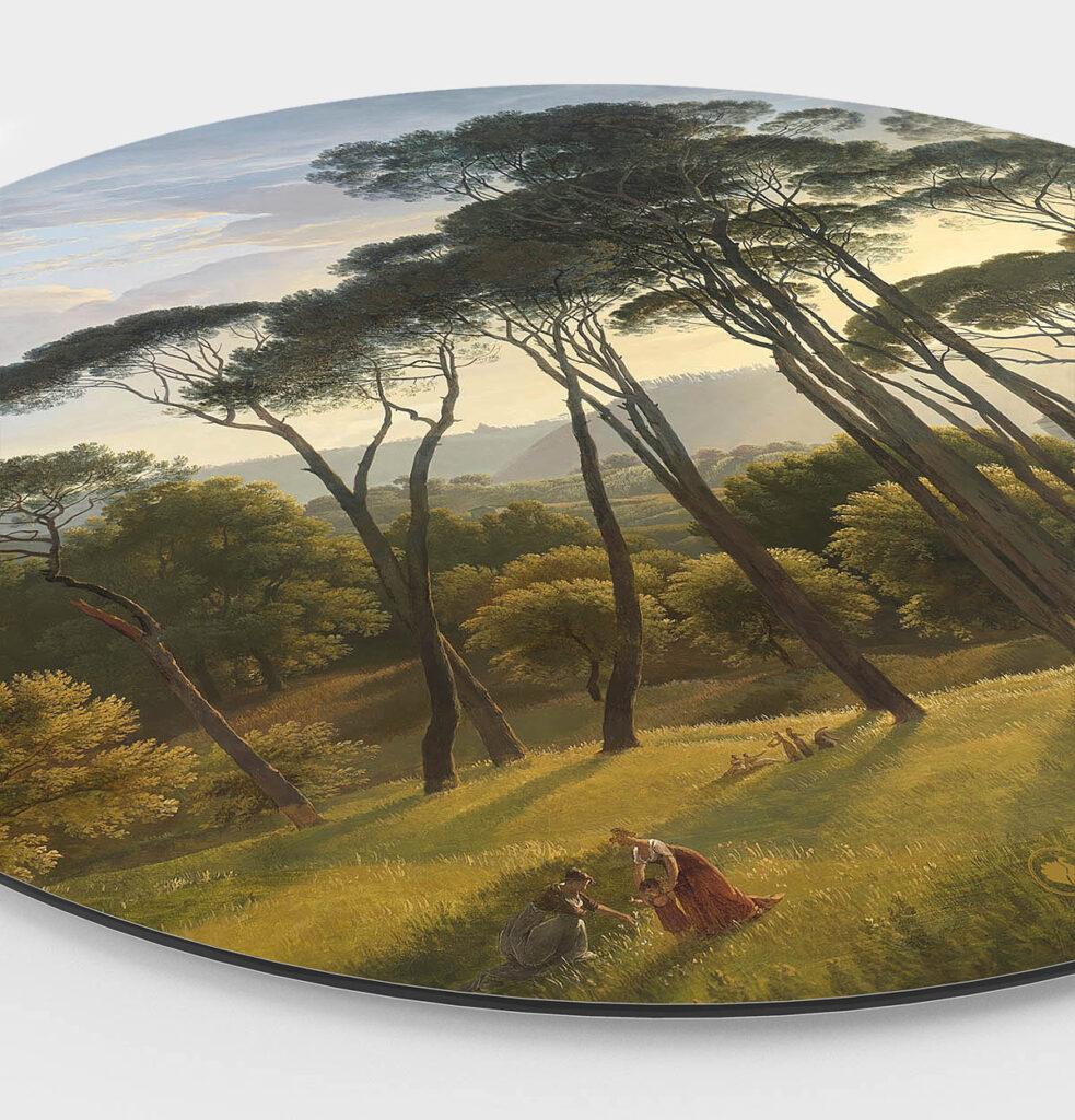 HIP ORGNL Italiaans landschap met parasoldennen Wanddecoratie Side
