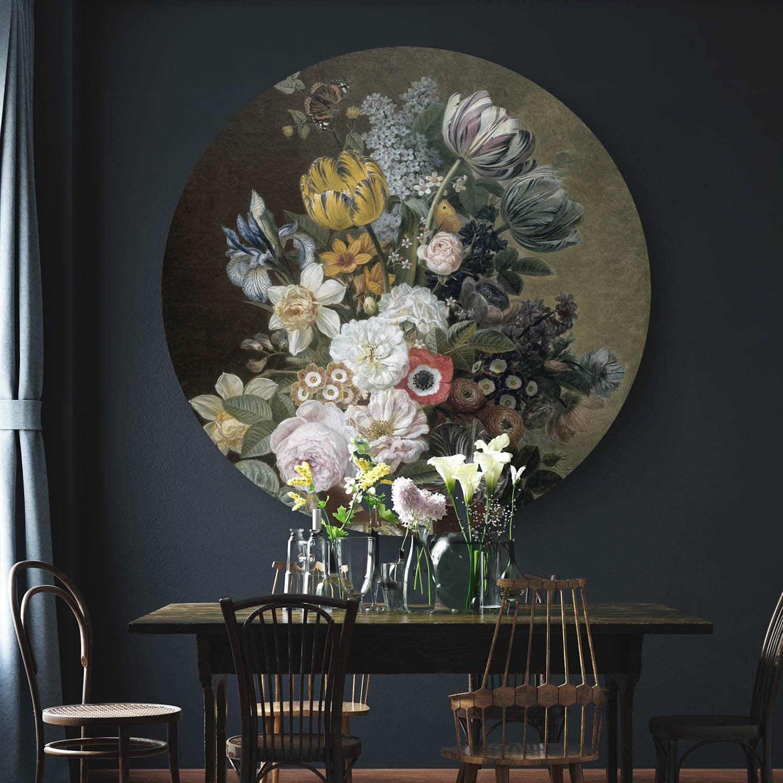 HIP ORGNL sfeer wandcirkel stilleven met bloemen