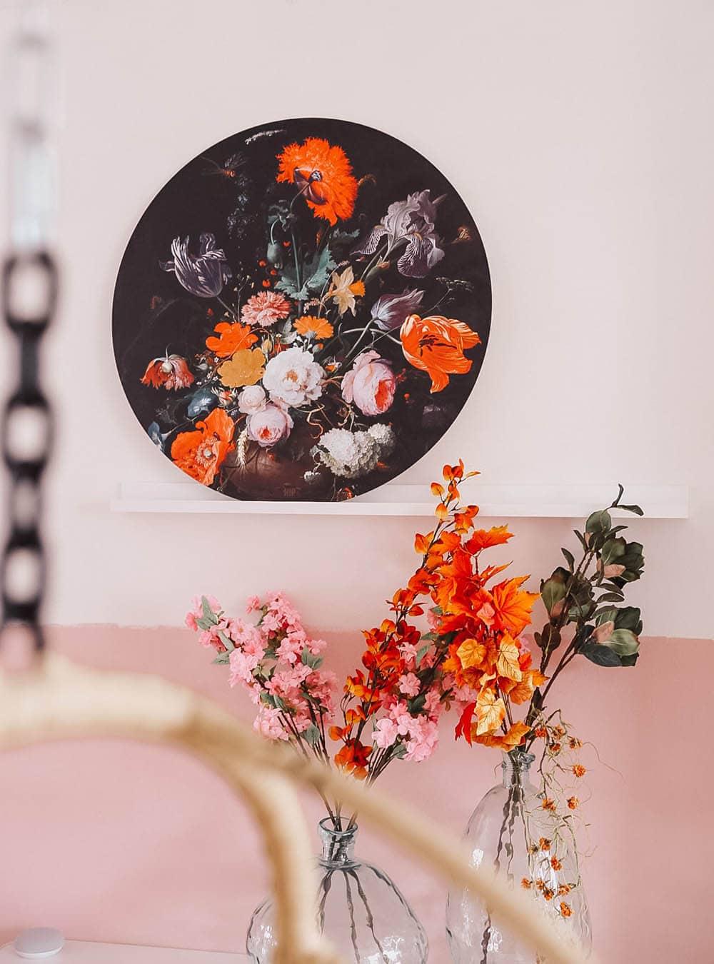 HIP ORGNL sfeer muurcirkel Stilleven met bloemen