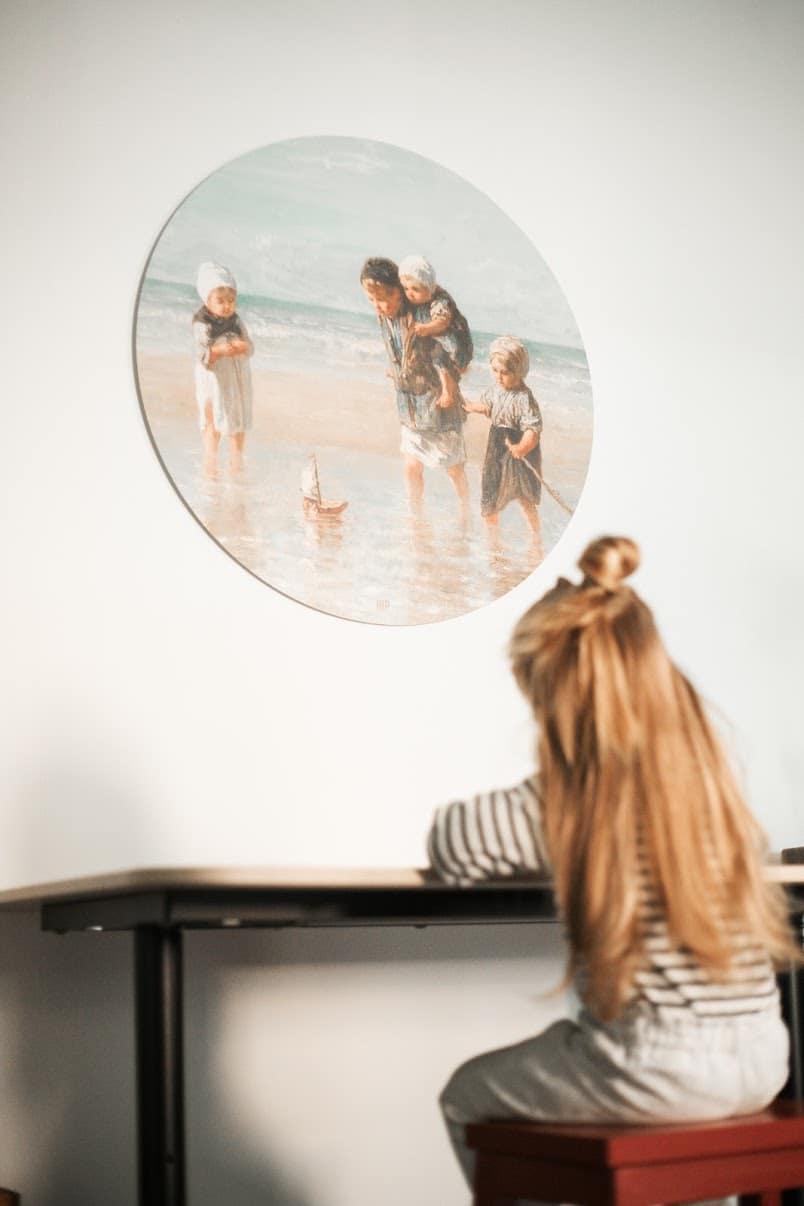 HIP ORGNL muurcirkel Kinderen aan zee