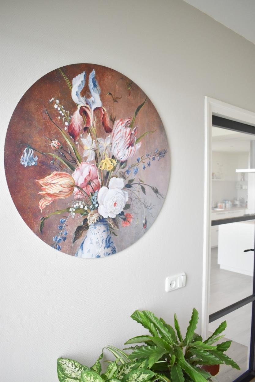 HIP ORGNL sfeer bloemstilleven wandcirkel