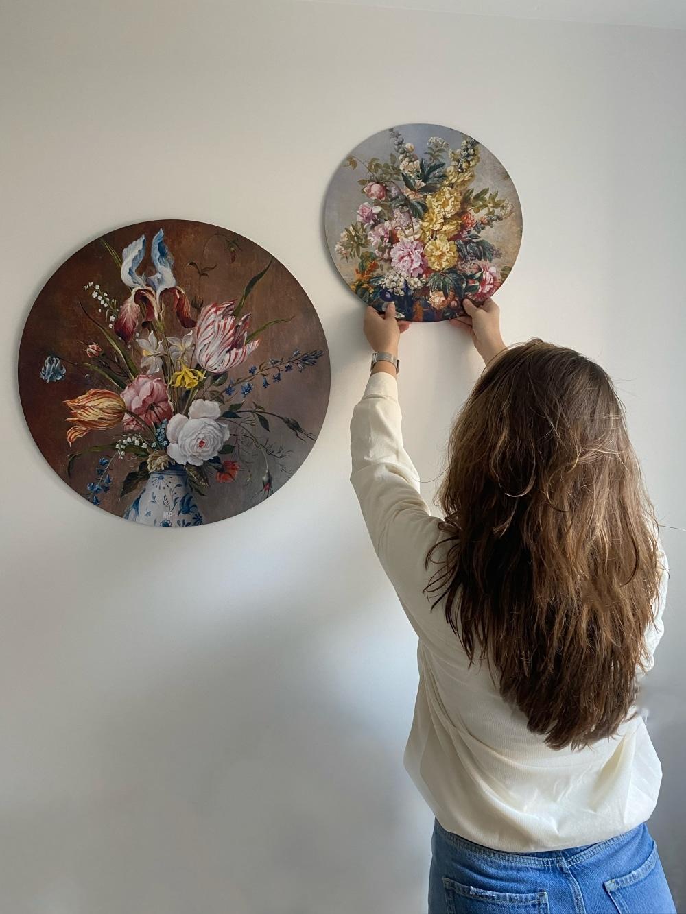 HIP ORGNL sfeer bloemen wandcirkels