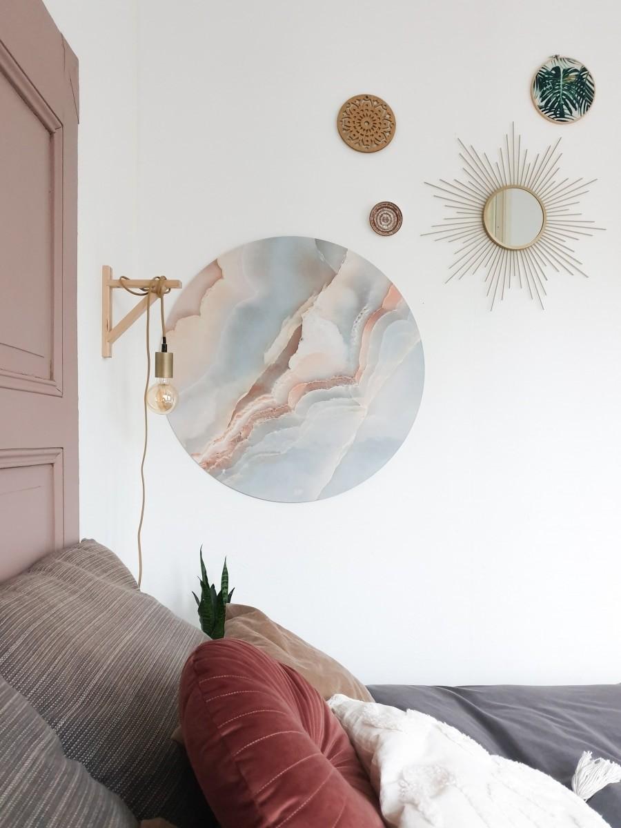 HIP ORGNL sfeer slaapkamer marmer wanddecoratie