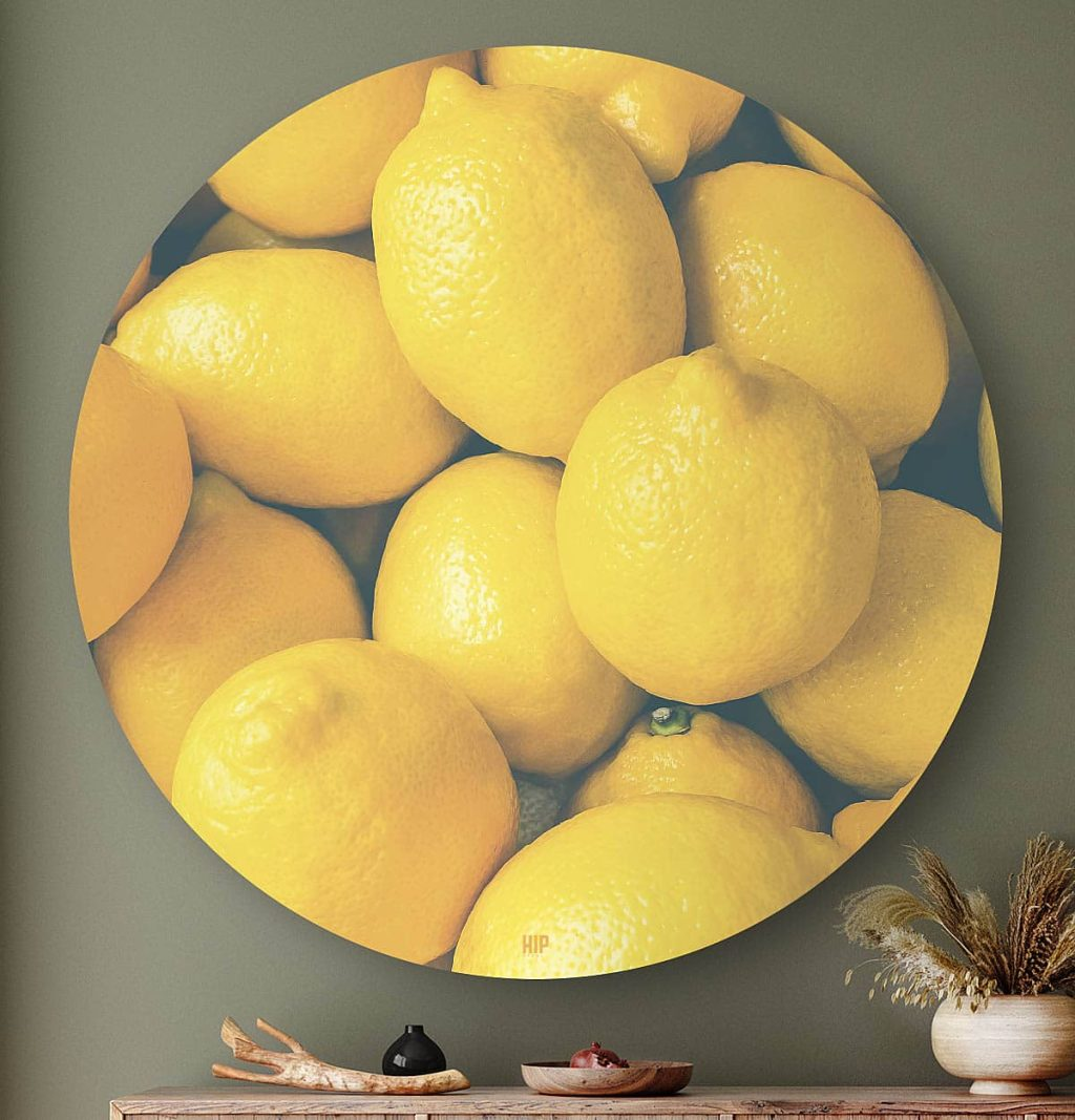 HIP ORGNL Lemons Wandcirkel