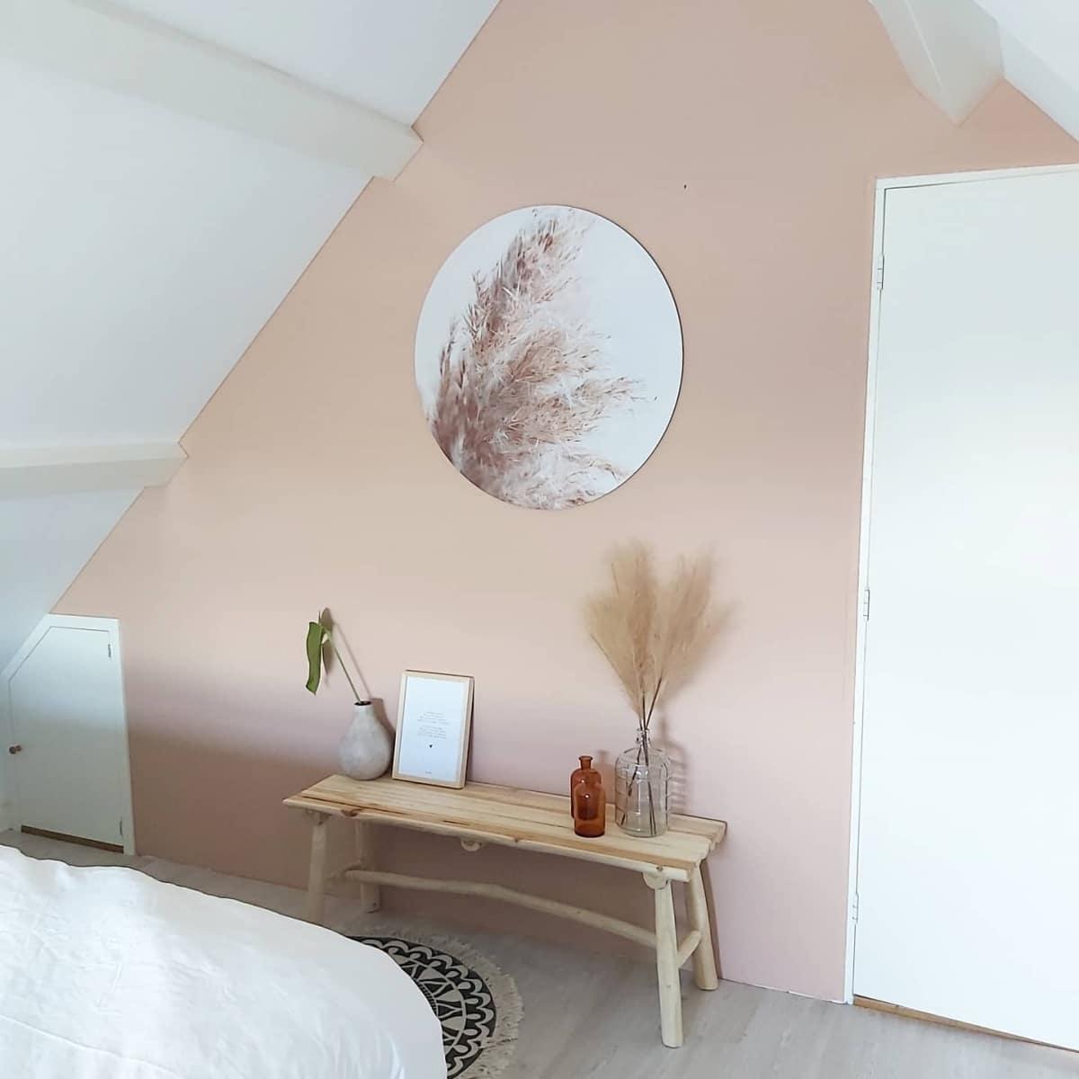 HIP ORGNL sfeer pampasgras wandcirkel slaapkamer