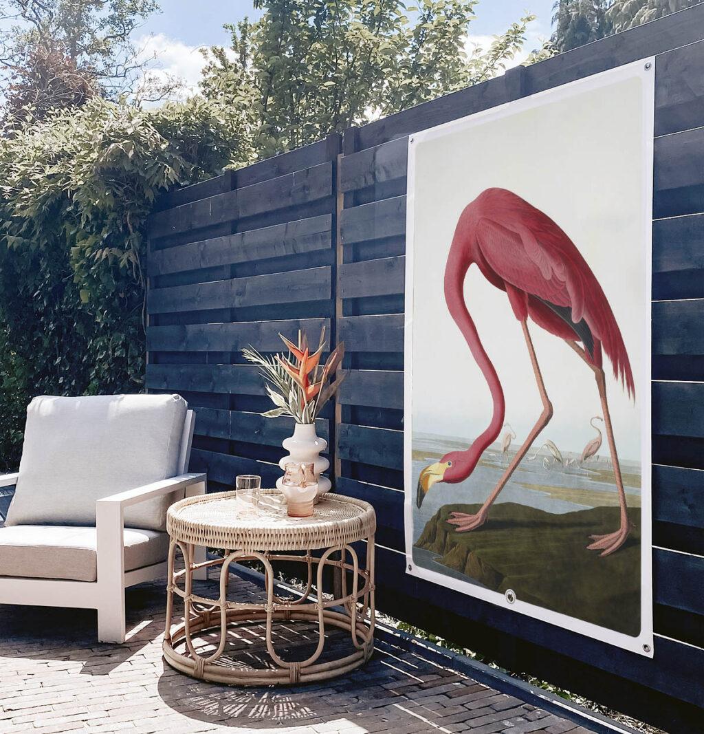 HIP ORGNL American Flamingo Garden Tuinposter