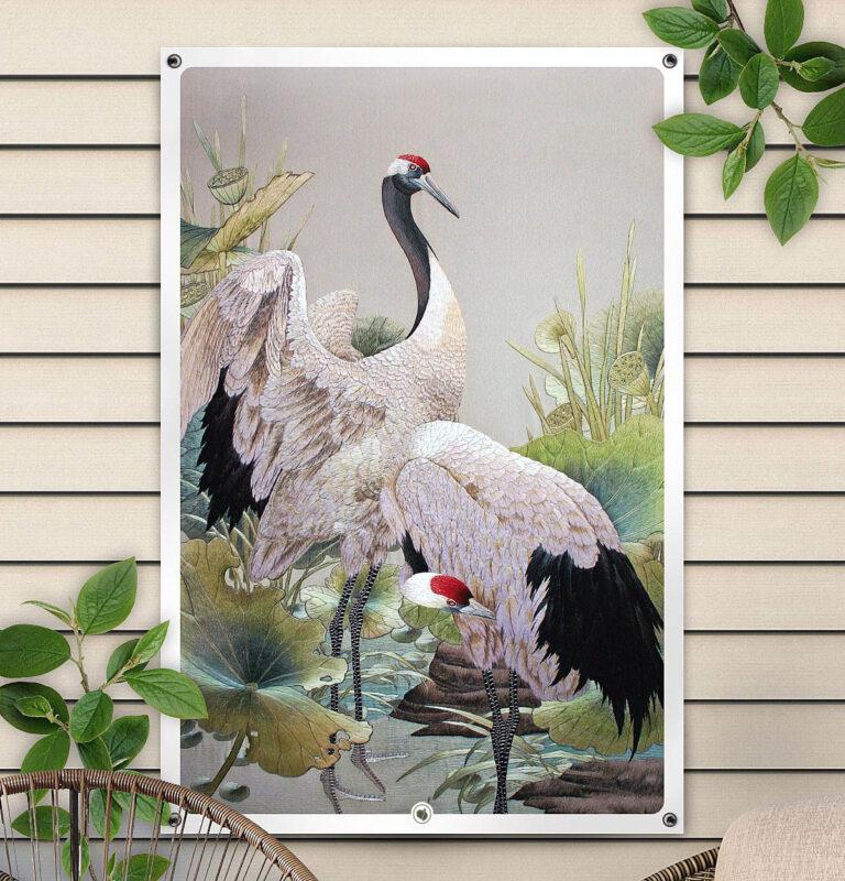 HIP ORGNL Japanese Cranes Tuinposter