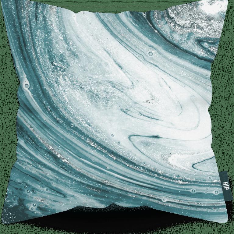 HIP ORGNL Aqua Geode Cushion