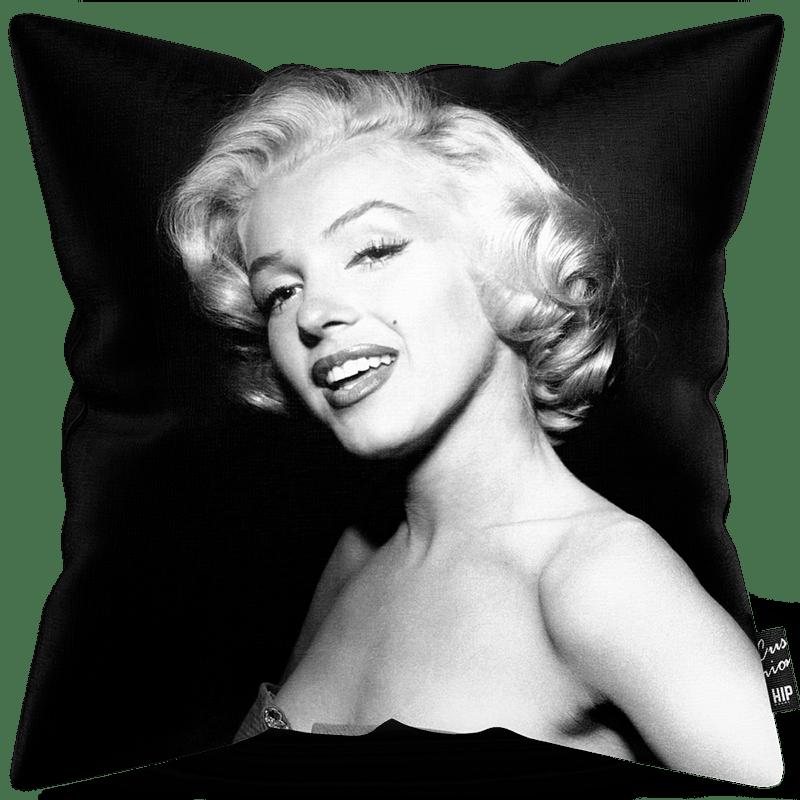 Kussen met Marylin Monroe in het zwart-wit erop.